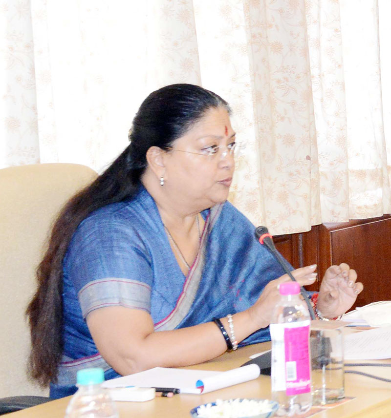 Vasundhara Raje - CM appealed to maintain peace to Jat Community in Bharatpur and Dholpur
