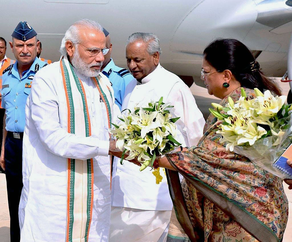 PM modi and CM Vasundhara Raje