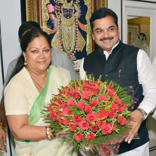 मुख्यमंत्री से महाराष्ट्र के गृह राज्य मंत्री की मुलाकात