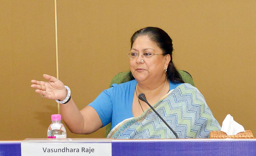 woman securities in rajasthan-vasundhara raje