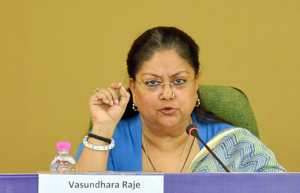 woman securities in rajasthan-vasundhara raje