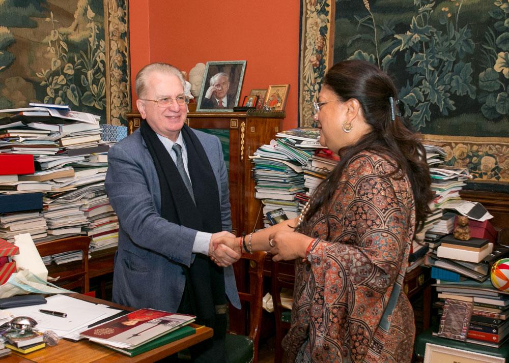 CM Vasundhara Raje met Mikhail Borisovich Piotrovski Director of WRM