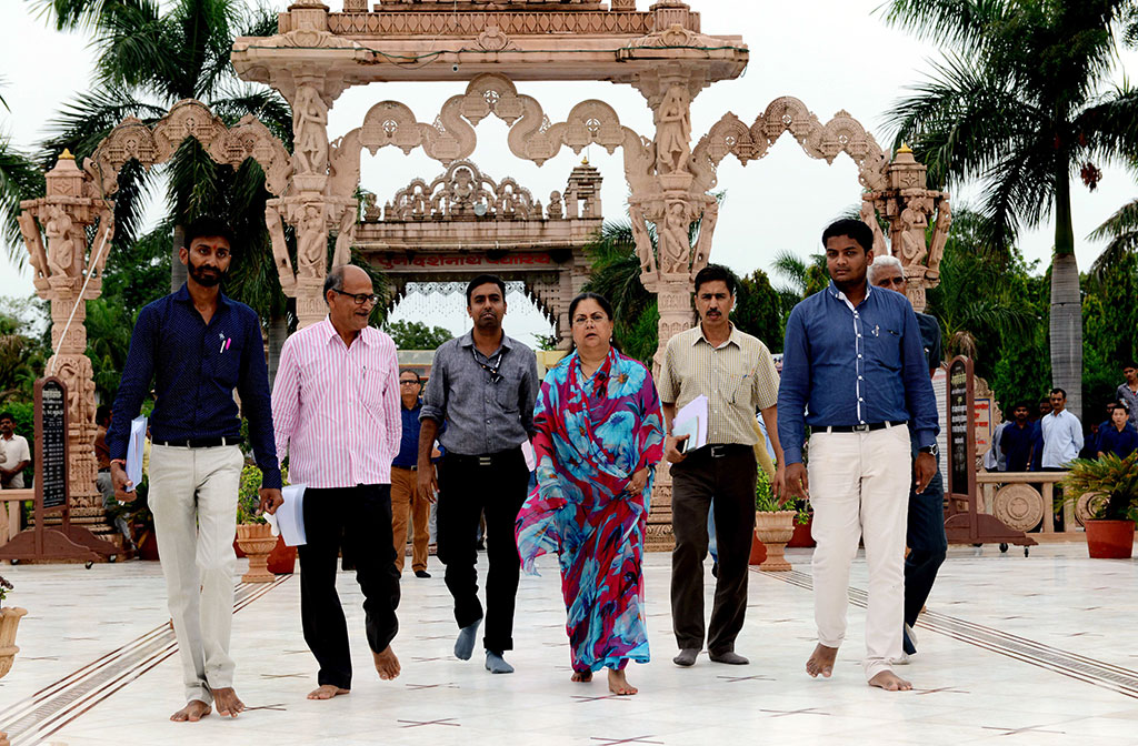 Vasundhara Raje visit Sirohi