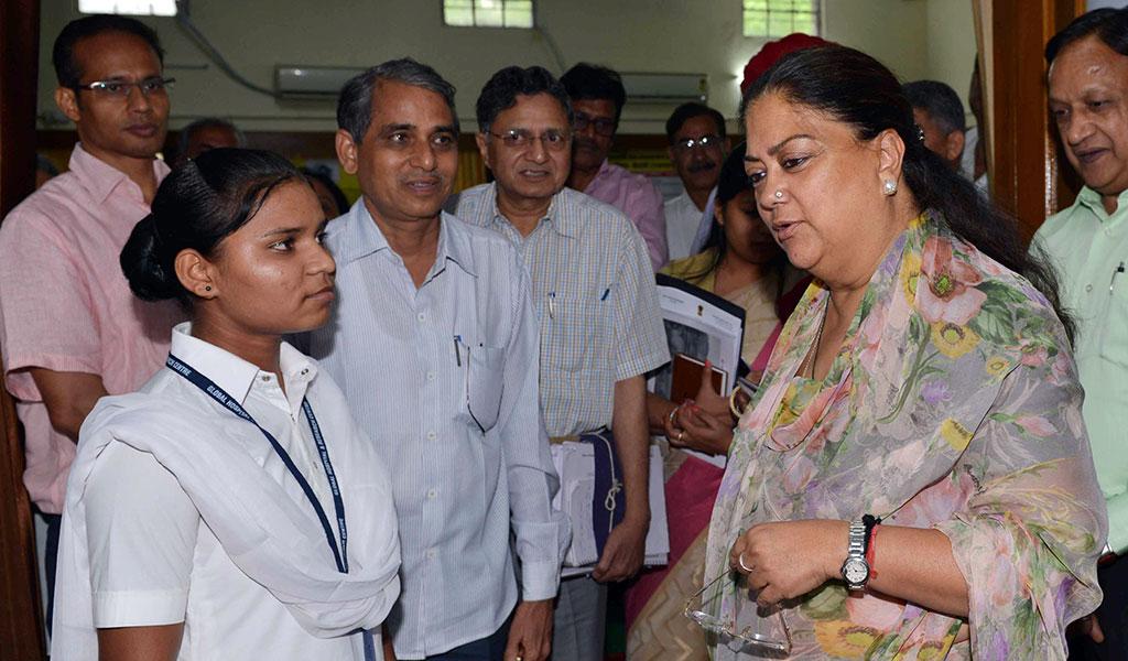 Chief Minister Vasundhara Raje in Sirohi