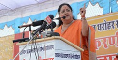 progress in rajasthan vasundhara raje