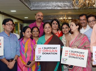 vasundhara raje-i support organ donation