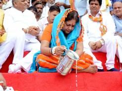 chief minister Vasundhara Raje worship pushkar mahadev temple