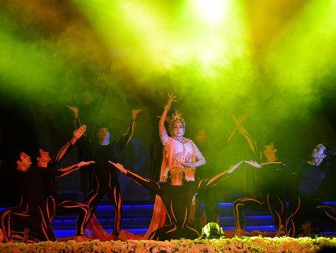 """मुख्यमंत्री सांस्कृतिक संध्या में शामिल हुई, अभिनेत्री हेमा मालिनी ने किया """"द्रोपदी"""" का मनोहारी मंचन"""