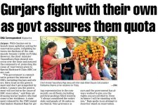 Gurjars fight with their own as govt assures them quota