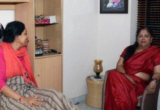 मुख्यमंत्री ने राज्य महिला आयोग अध्यक्ष की कुशलक्षेम पूछी