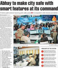 Abhay to make city safe with smart features at its command