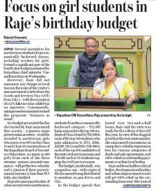 Focus on girl students in Raje's birthday budget