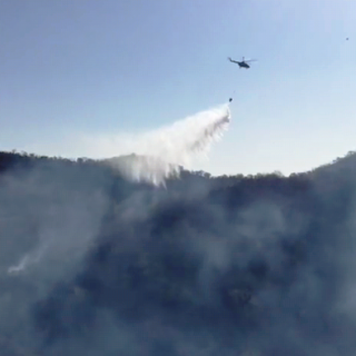 After CM's Directions Fire Extinguished  in Udaipur Using Helicopter