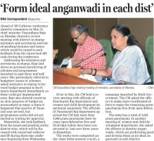 Form ideal anganwadi in each dist