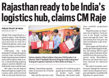 Rajasthan ready to be India's logistics hub