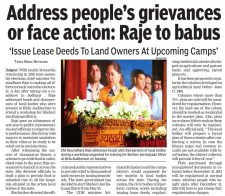 Address people's grievances or face action