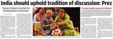 India should uphold tradition of discussion: Prez