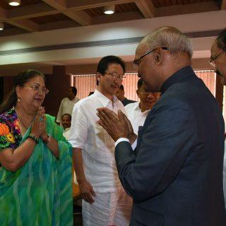 श्री कोविंद के नामांकन के अवसर पर मुख्यमंत्री उपस्थित रहीं
