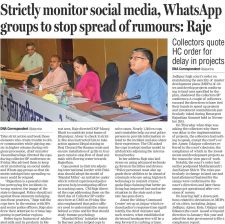 Strictly monitor social media, WhatsApp groups to stop spreading of rumors