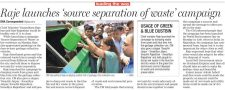 Raje launches 'source separation of waste' campaign