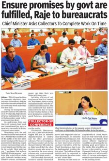 Ensure promises by govt are fulfilled, Raje to bureaucrats