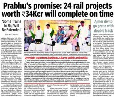 Prabhu's promise: 24 rail projects worth Rs. 34k cr will complete on time