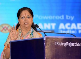 cm address at rising rajasthan event tv18 hotel clarks amer CMP_7019
