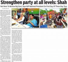 Strengthen party at all levels: Shah