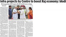Infra projects by Centre to boost Raj economy: Modi