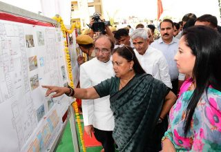 vasundhara raje foundation of state cancer unit inauguration at RUHS CMA_7234