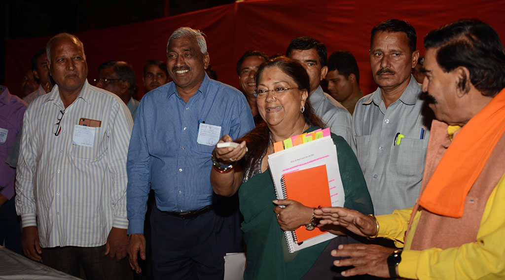 vasundhara raje lays foundation stones road works CMP_5147