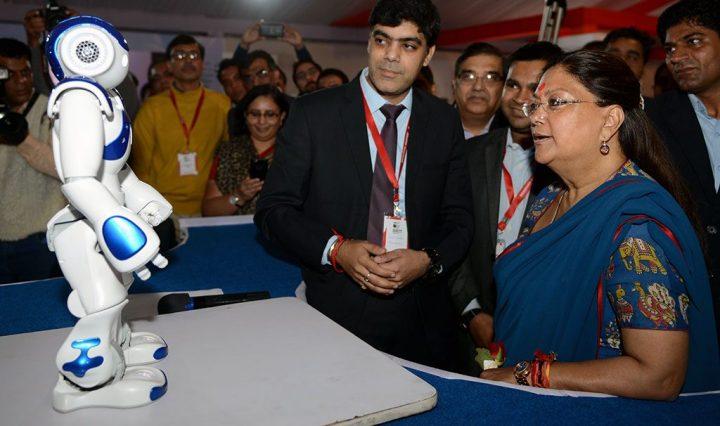 मुख्यमंत्री हुईं अभिभूत, जब रोबोट ने दी भामाशाह योजना की जानकारी