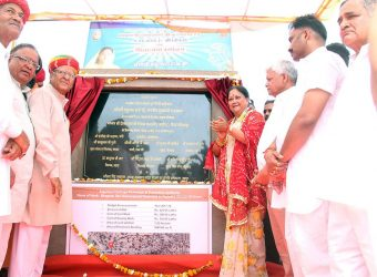 foundation stone laying bhagwan devinarayan panorama 03