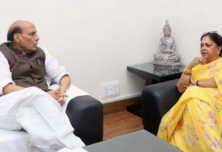 vasundhara raje rajnath singh delhi meeting