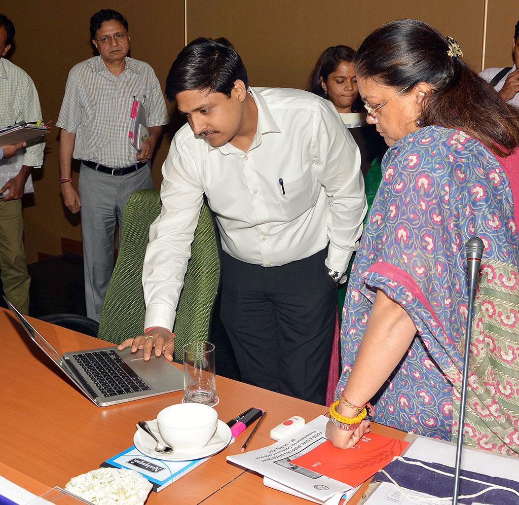 vasundhara raje during Collector-SP Conference