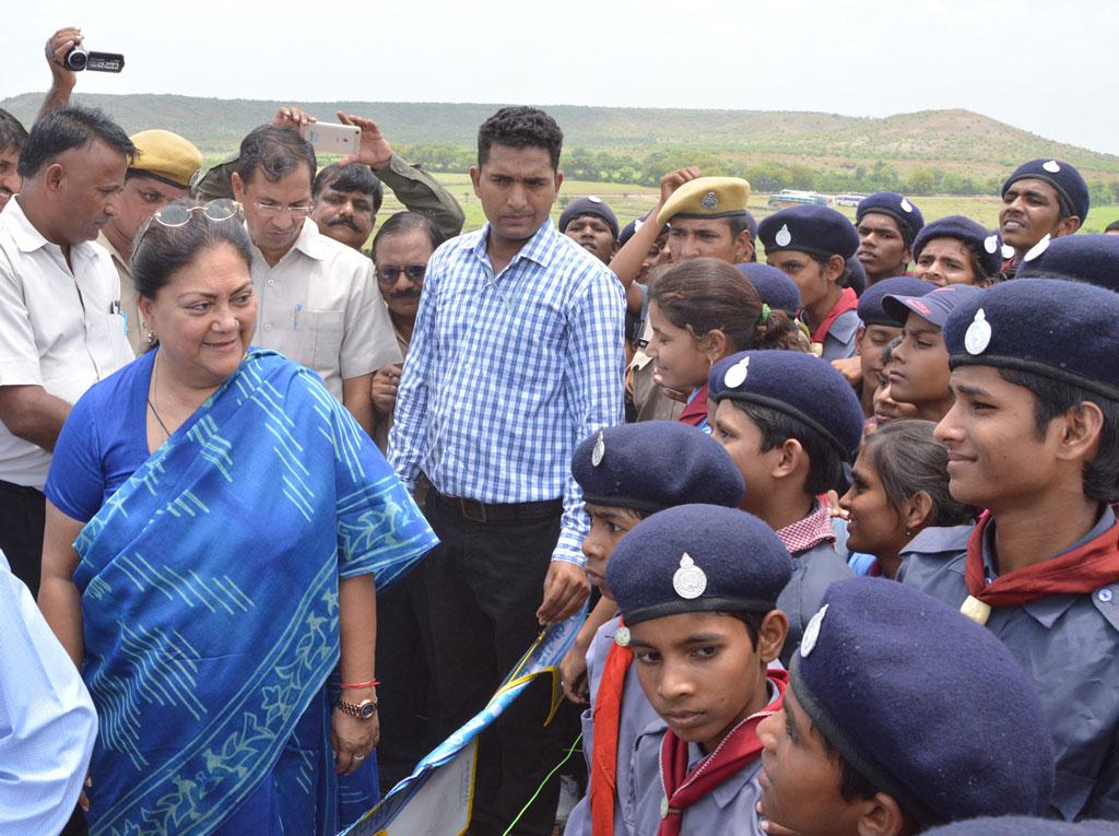 CM Vasundhara Raje Inauguration of Cotton Yarn Plant