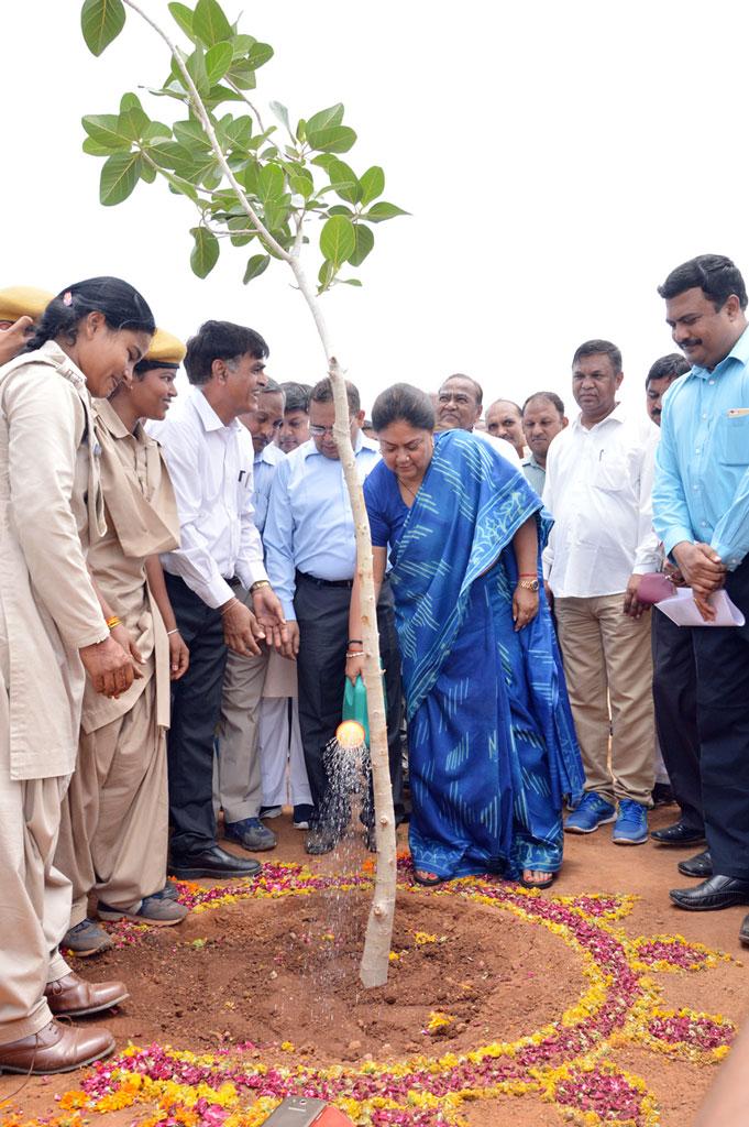 Chief Minister Vasundhara Raje Inauguration of Cotton Yarn Plant