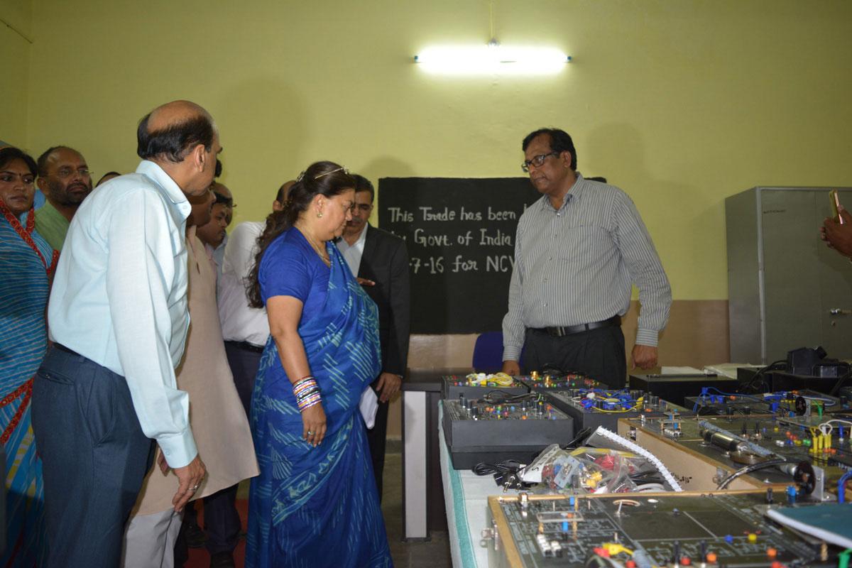 Chief Minister Vasundhara Raje at Jhalawar