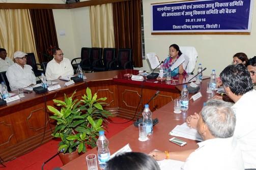 मुख्यमंत्री की अध्यक्षता में आबू विकास समिति की बैठक हुई