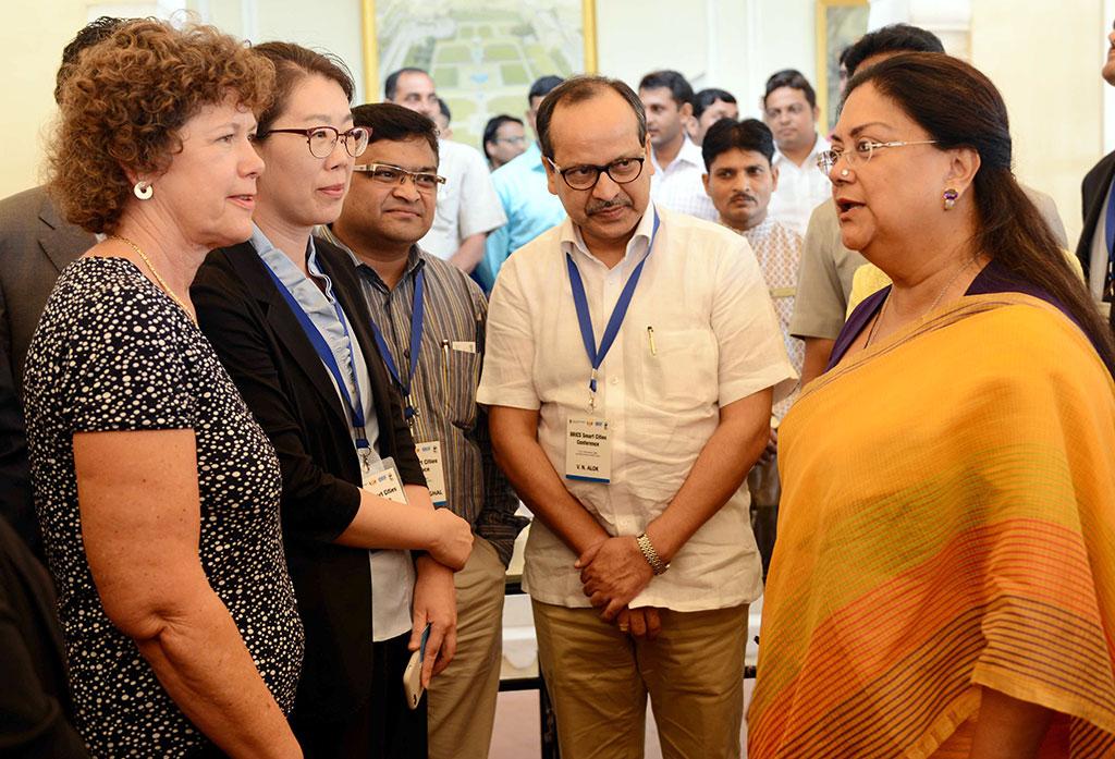 chief minister vasundhara raje brics smart cities conference